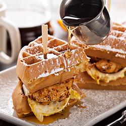 Delicious Waffles at Bubble Waffles