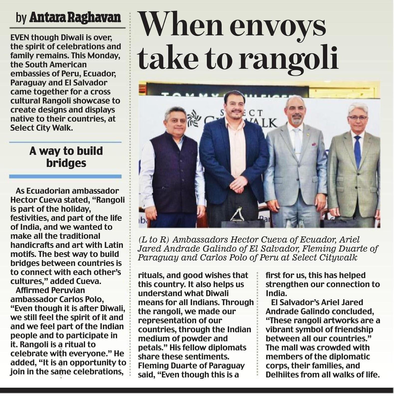 When Envoys Take To Rangoli