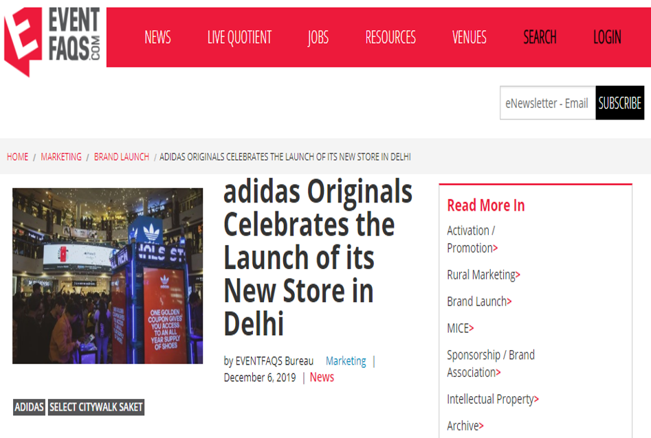 Adidas Originals Celebrates The Launch Of Its New Store In Delhi