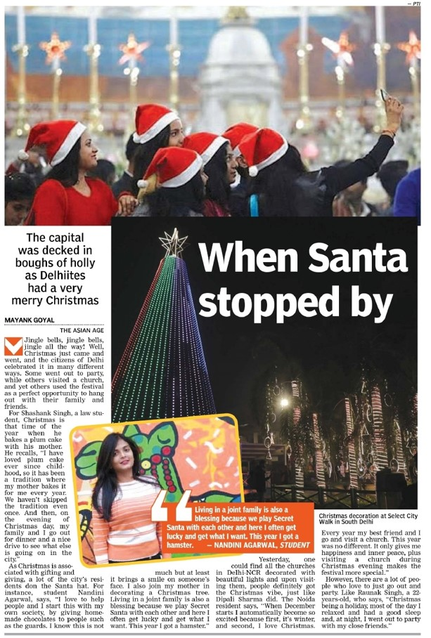 The Capital Was Decked In Boughs Of Holly As Delhities Had A Very Merry Christmas