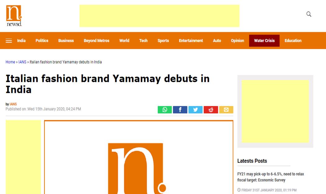 Italian fashion brand Yamamay debuts in India-newsd