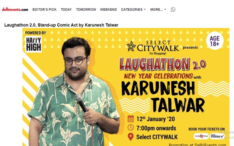 Laughathon 2.0, Stand-up Comic Act by Karunesh Talwar