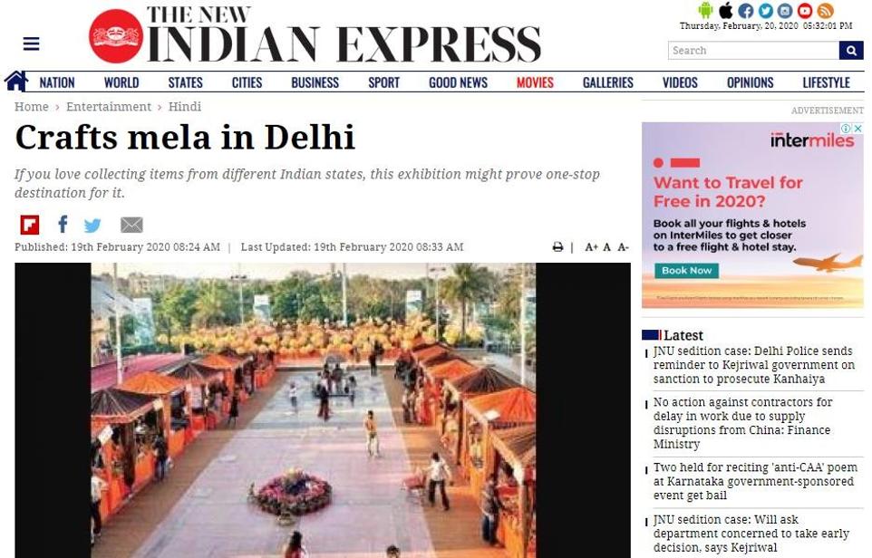 Crafts mela in Delhi