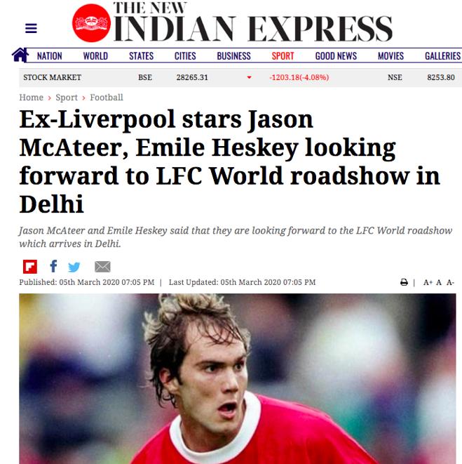Ex-Liverpool stars Jason McAteer