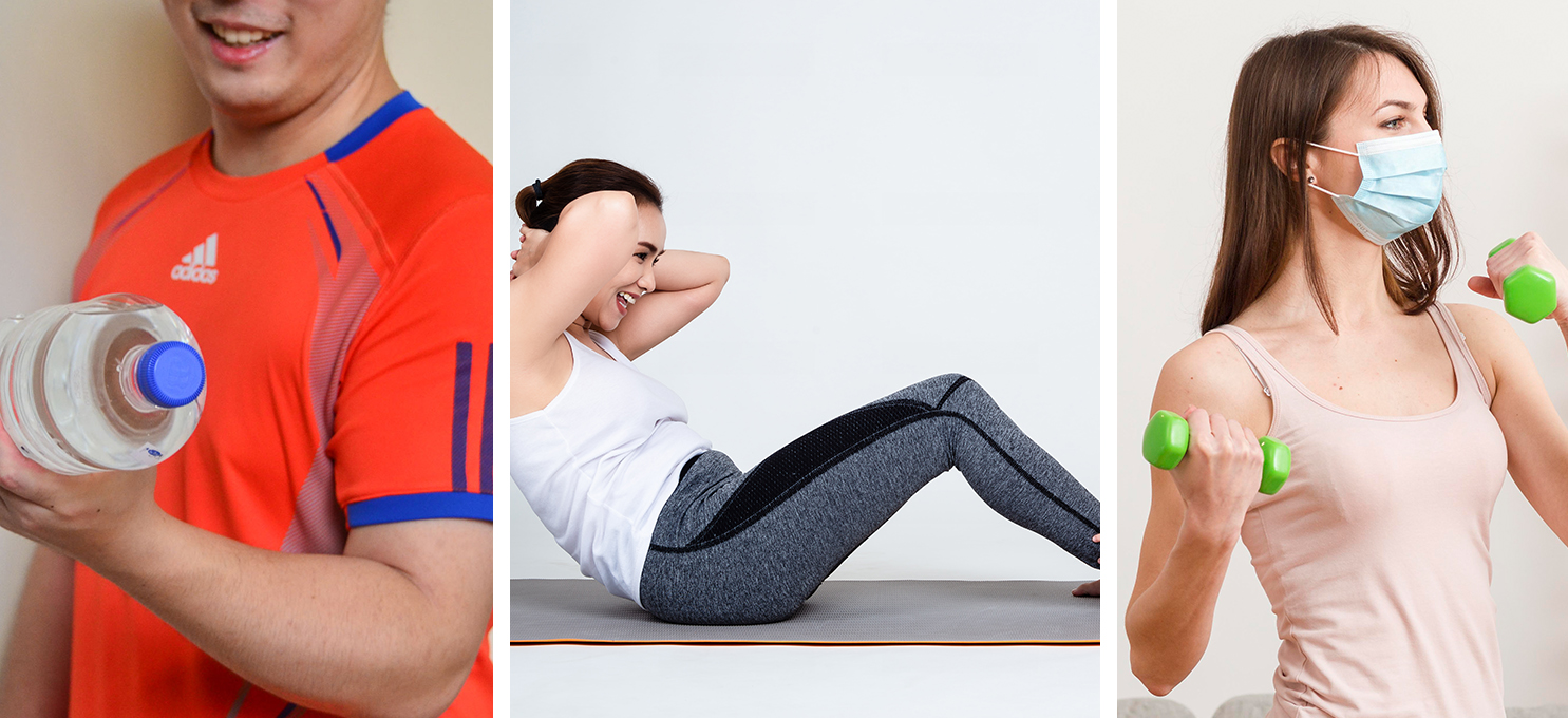 Household items that can be used for home workouts