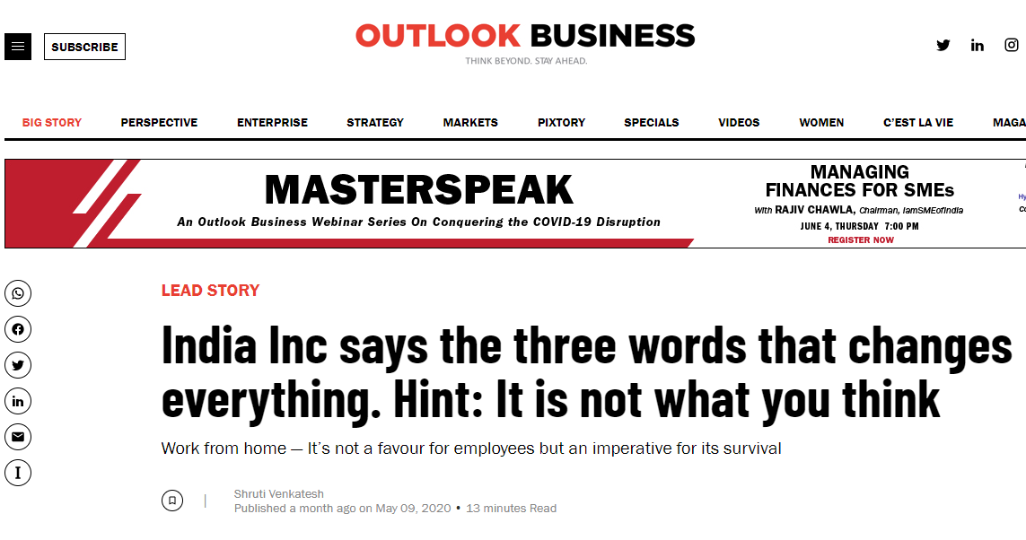 India Inc Says The Three Words That Changes Everything