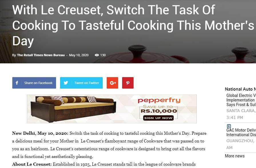 With Le Creuset
