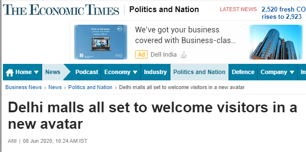 Delhi malls all set to welcome visitors in a new avatartheeconomictimes