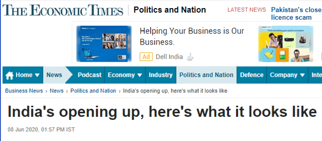 India's opening up, here's what it looks like