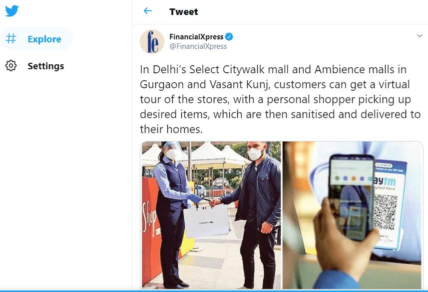 In Delhi's Select Citywalk mall