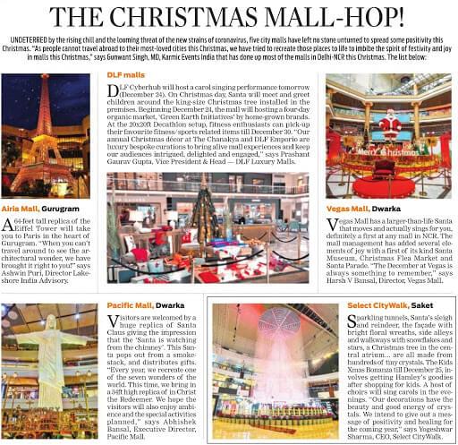 The Christmas Mall-Hop!