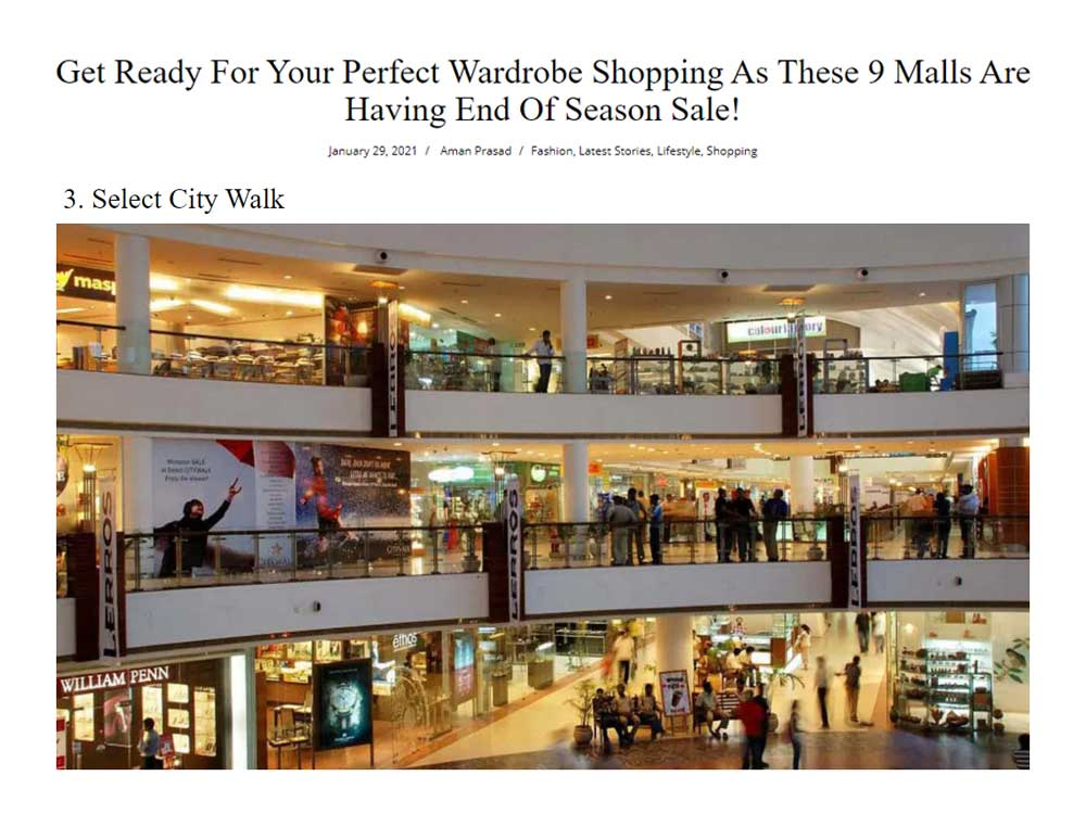 Get Ready For Your Perfect Wardrobe Shopping As These 9 Malls Are Having End Of Season Sale!