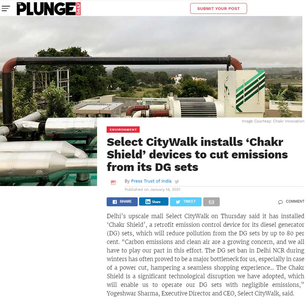select-citywalk-installs-chakr-shield-devices-cut-emissions-dg-sets